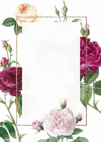 Invitation Floral Flower Transparent Invitations Mockup Rawpixel