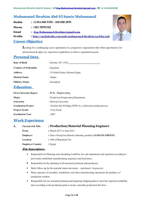 Resume Tips For Computer Skills by Muhammad Ibrahim Cv