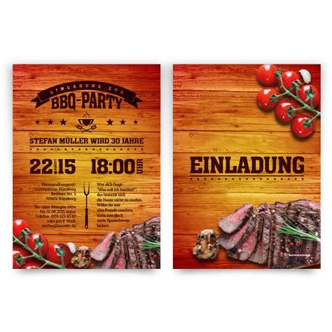 einladungskarten zum geburtstag im bbq design barbecue