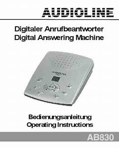 Audioline Ab830 Others Download Manual For Free Now
