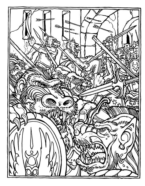 advanced coloring books brains the official advanced dungeons and dragons