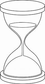 Hourglass Clip Line Outline Lineart Sweetclipart sketch template