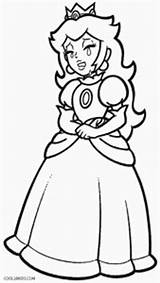 Peach Princess Coloring Pages Print Printable Cool2bkids sketch template