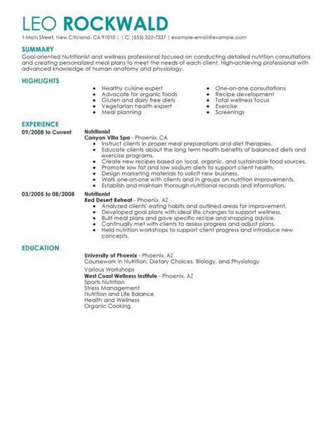 nutritionist resume   professional resume
