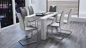 Esstisch Glas Grau : esstisch ahaus in glas grau und wei hochglanz 140x80 cm ~ Markanthonyermac.com Haus und Dekorationen