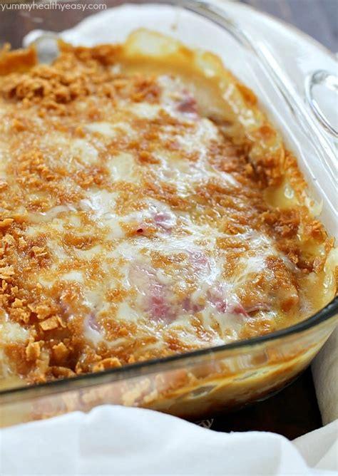 Chicken Cordon Bleu Casserole - Yummy Healthy Easy