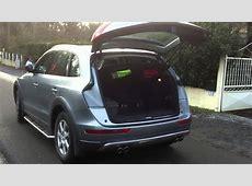 Ouverture et fermeture coffre Audi Q5 avec télécommande