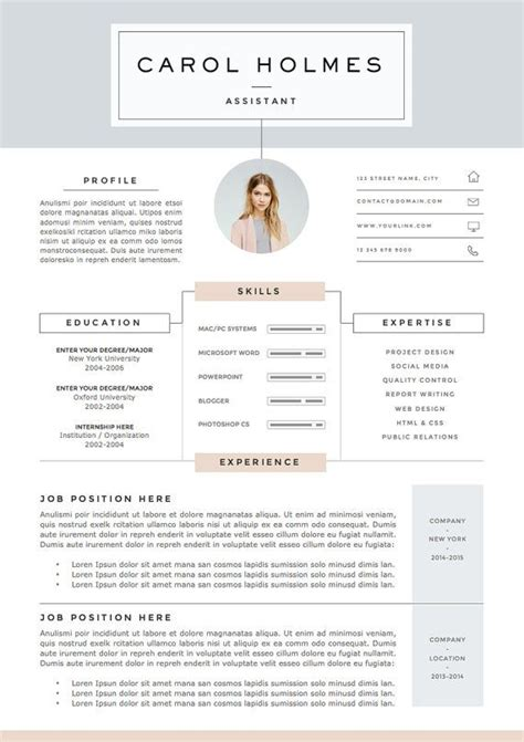 Page Layout For Resume by 25 Best Ideas About Resume Templates On