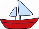 Cute Simple Sailboat Design - Free Clip Art
