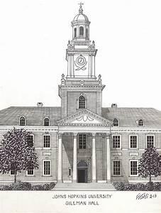 Johns Hopkins University Drawing by Frederic Kohli
