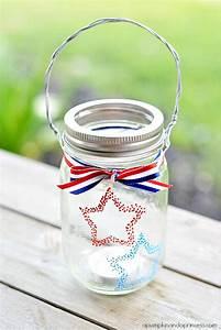 Confetti, Star, Mason, Jar, Lanterns