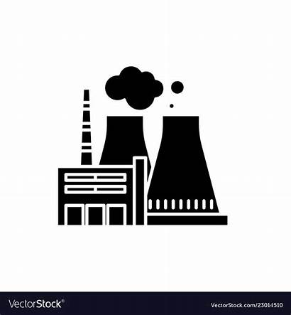 Power Plant Icon Thermal Vector Sign Clipart