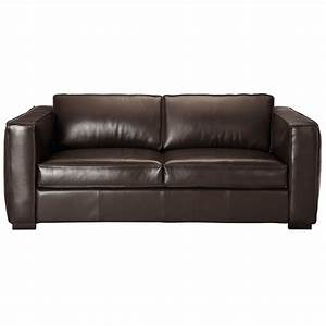canape cuir 3 places convertible marron berlin maisons With canapé convertible cuir