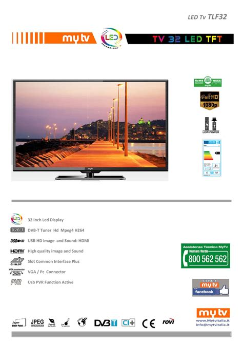 "MyTV TLF32 31 5"" Full HD Black LED TV Manualzz"