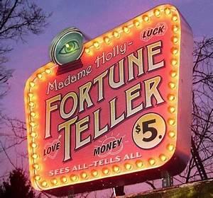 Fortune Teller Pink Psychic Shop Sign Neon Lights