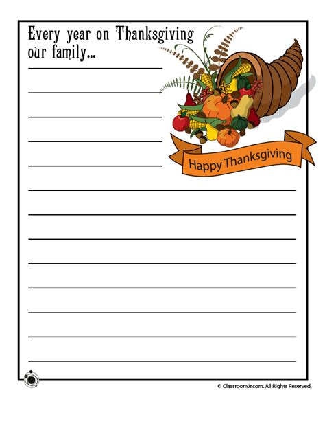 story starters for middle school students thanksgiving story printable thanksgiving day writing prompts woo jr activities