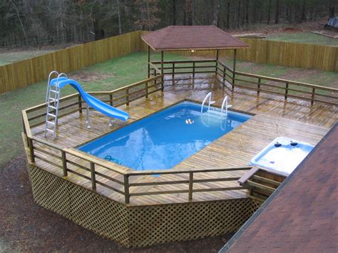 above ground pool deck pictures above ground pools experts arthur s pools
