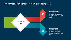 Two Process Diagram Powerpoint Template