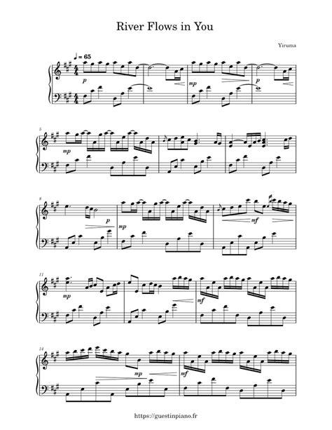 Download river flows in you sheet music yiruma. River Flows in You - Yiruma Sheet music for Piano (Solo) | Musescore.com