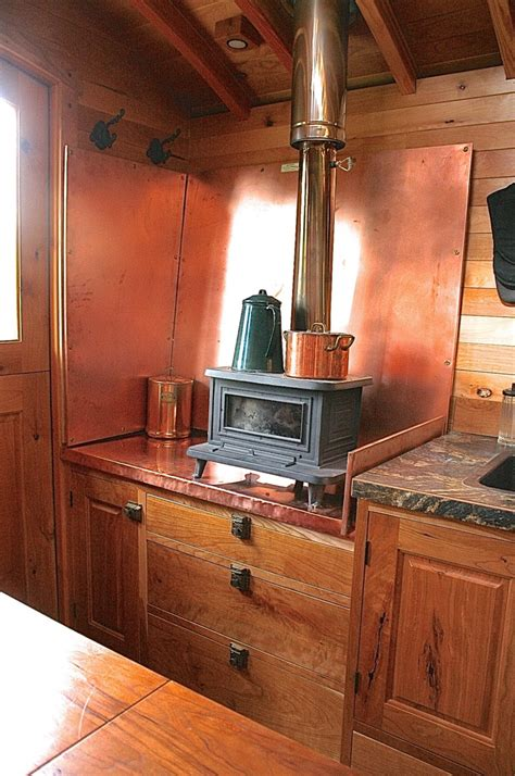 How To Build A Wood Burning Fireplace by Andrew Campbell S Gypsy Wagons The Shelter Blog