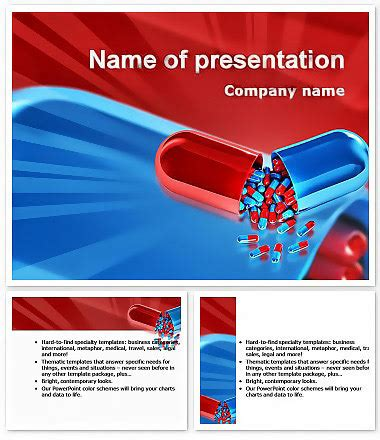 pharmacy  tablets powerpoint template
