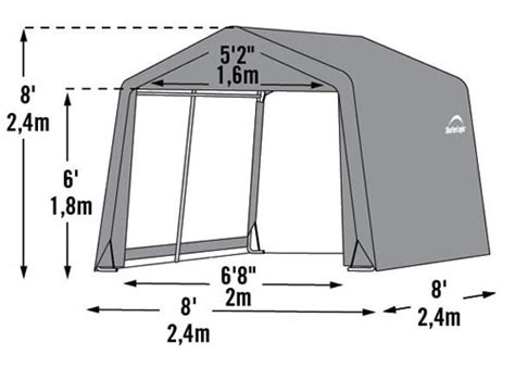 Shelterlogic Shed In A Box 8x8x8 by Shelterlogic 8x8x8 Shed In A Box Fabric Shed Kit 70423