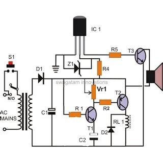 Electronic Bell Circuit Diagram by Simple Hobby Electronic Circuits Circuit Schematic Diagram