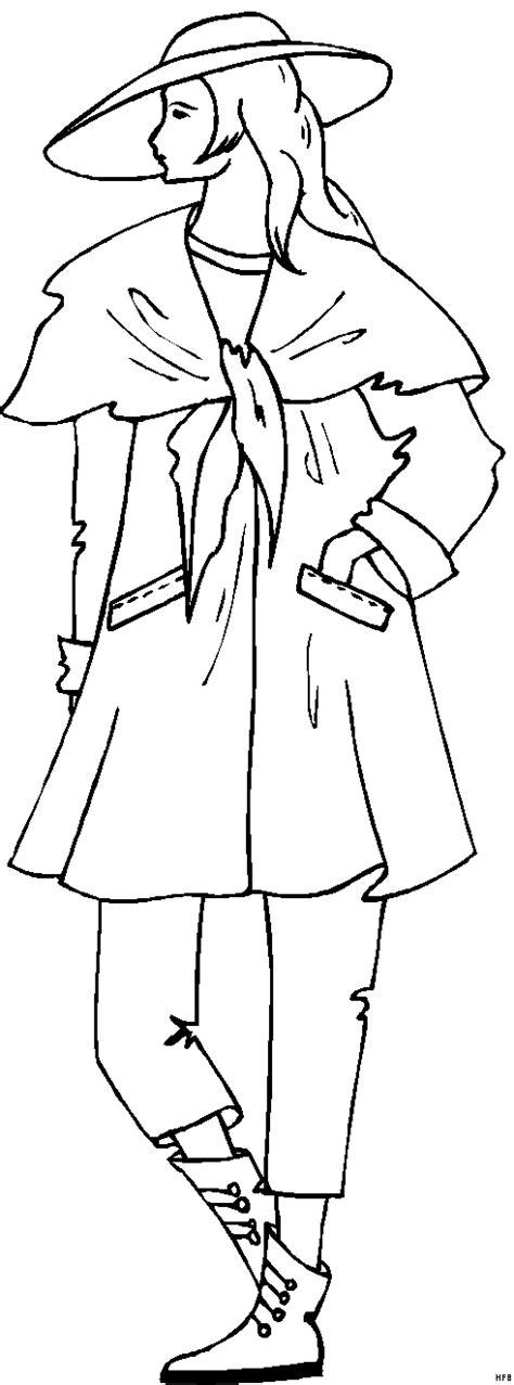 maedchen im kleid  ausmalbild malvorlage mode und kunst