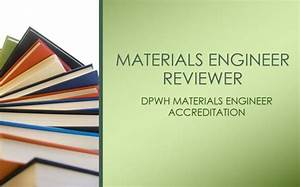 Dpwh Materials Engineer Reviewer For Me Accreditation Examination