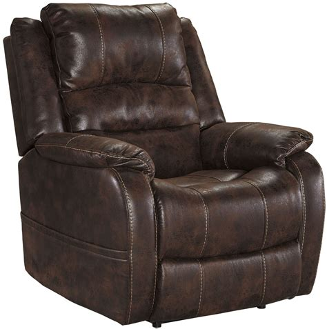 Power Recliner Chairs For Sale by Barling Walnut Power Recliner With Adjustable Headrest