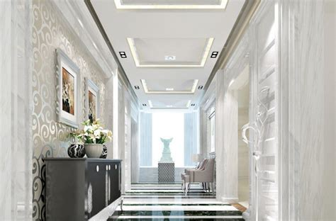 Hallway with cabinets and chairs Interior Design