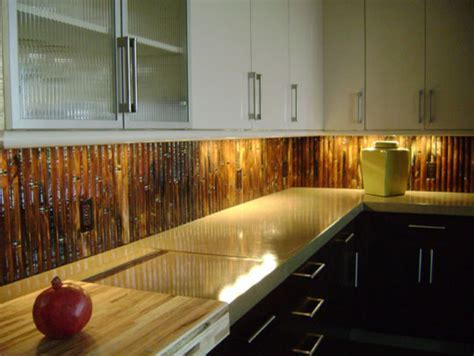 Round Glass Bamboo Backsplash