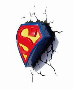 Superman Logo 3D LED Wall Light Bedroom Lighting