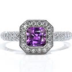 amethyst engagement rings emerald cut amethyst engagement ring engagement rings review