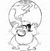 Sumo Coloring Wrestler Outline Globe Cartoon Vector Drawing Lifting Sketch Template Leishman Ron sketch template