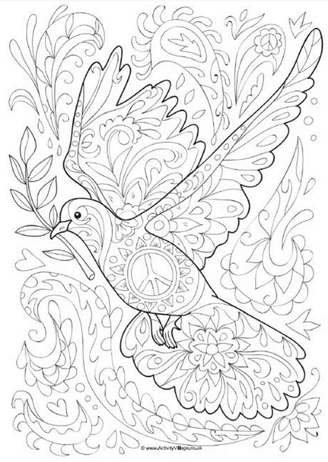 dove doodle colouring page coloring pics pinte