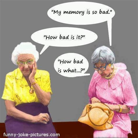 funny elderly cartoons funny  women memory joke