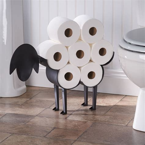 decorative toilet paper storage sheep decorative toilet paper holder free standing 6508