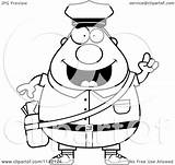 Postal Worker Mail Cartoon Clipart Idea Chubby Coloring Vector Drawing Thoman Cory Outlined Getdrawings sketch template
