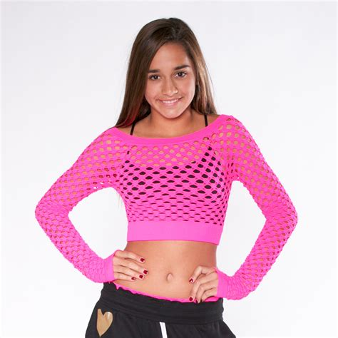 cool ls for tweens ls cropped mesh tee bianca malibu sugar