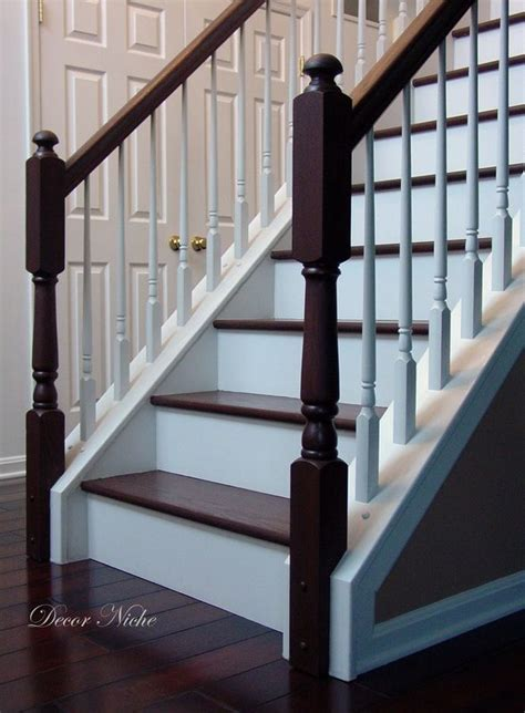 Refinish Banister Railing by Stain Color For Foyer Stairs And I Would Be