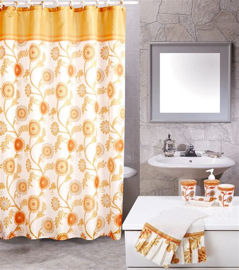 beige floral vines casual 19 bath accessory shower