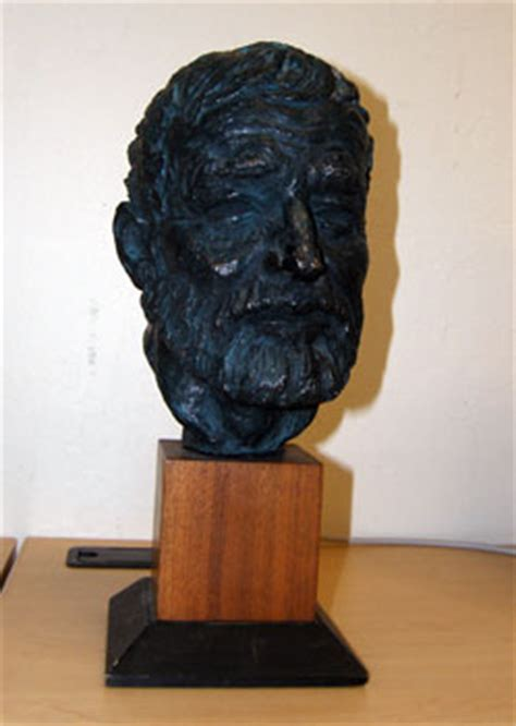 ernest hemingway bronze sculpture bust  thomas holland