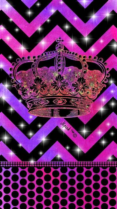 Crown Phone Chevron Iphone Girly Backgrounds Anchor