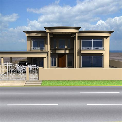front elevationcom  kanal banglow lahoretop rated house plans  front elevation  home