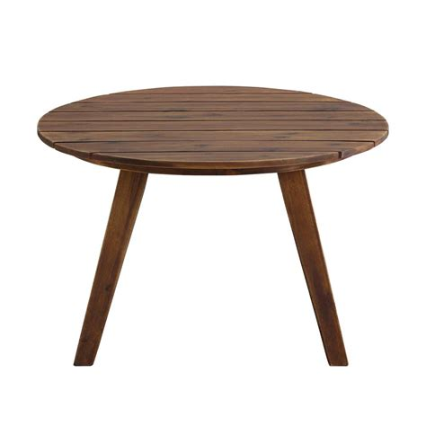 See the detailed collection here. Welwick Designs 30 in. Dark Brown Round Acacia Wood ...