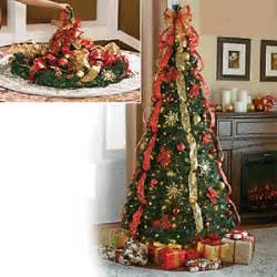Prelit Christmas Tree Pop Up by 6 Ft Pre Lit Pull Up Decorated Collapsible Christmas Tree
