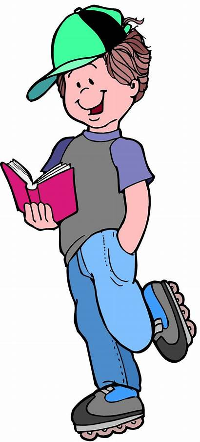 Thinking Clipart Child Clip Reading Comprehension Boy