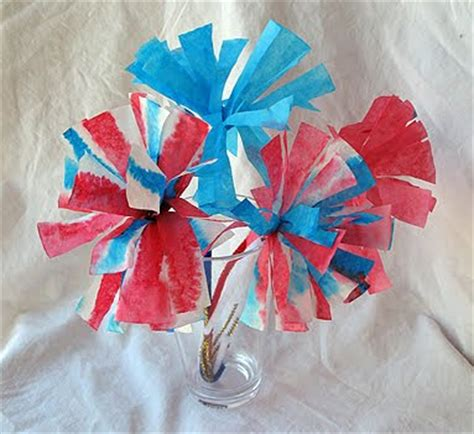 Preschool Crafts for Kids*: 4th of July Coffee Filter Fireworks Flower Craft