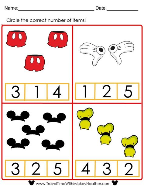 disney counting worksheet educational disney